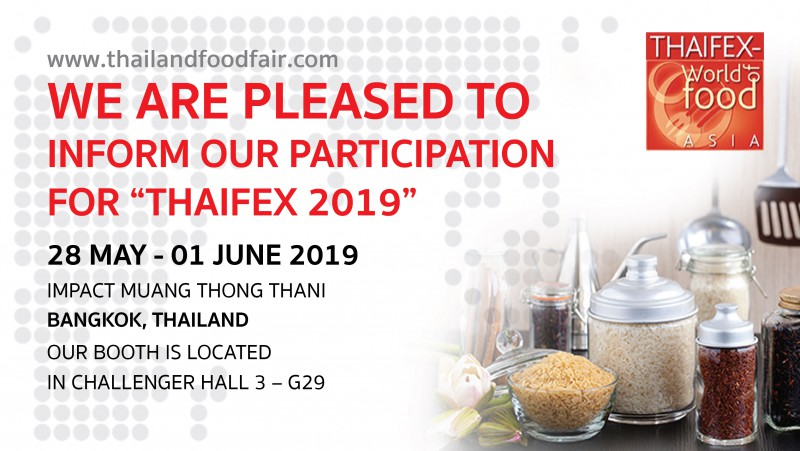 งาน THAIFEX World of food ASIA 2019